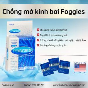Foggies giúp chống mờ kính bơi hiệu quả