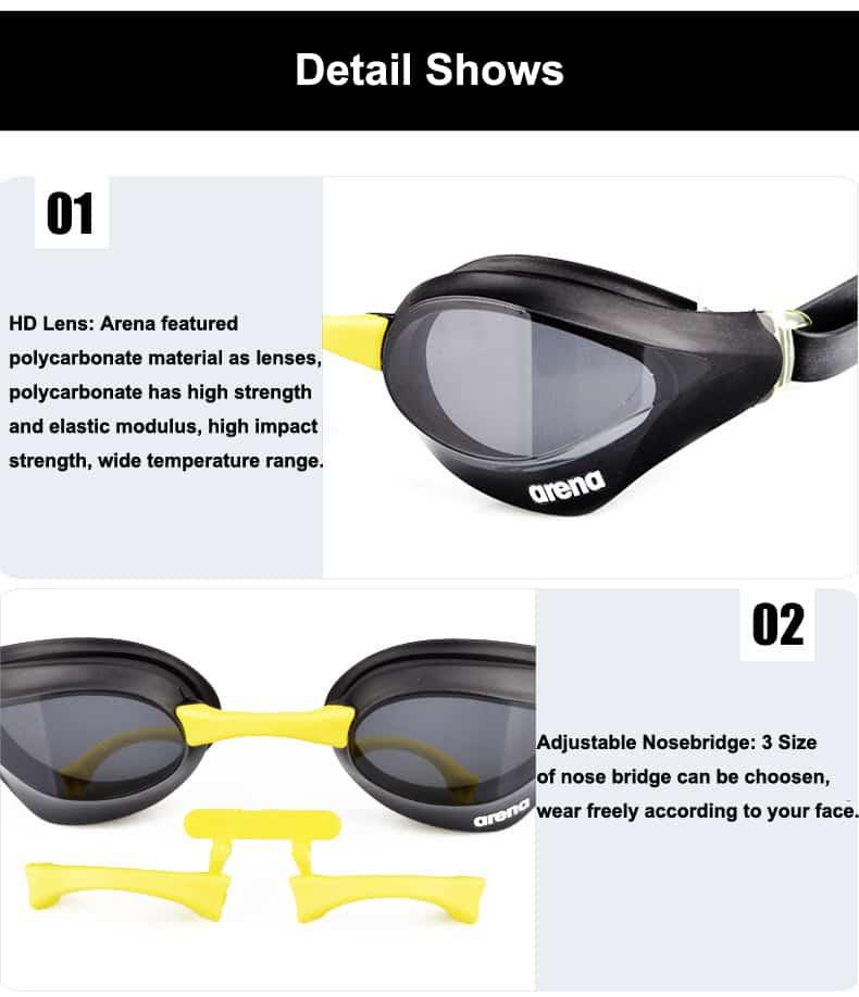 chi tiết mô tả sản phẩm kính bơi arena AGL230